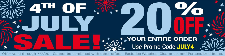 4th of July Weekend Sale!